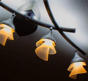 Florale Lampe